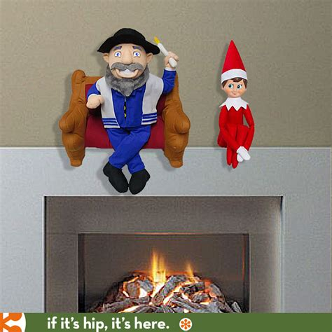 mensch on bench mensch on a bench gives elf on a shelf some company if