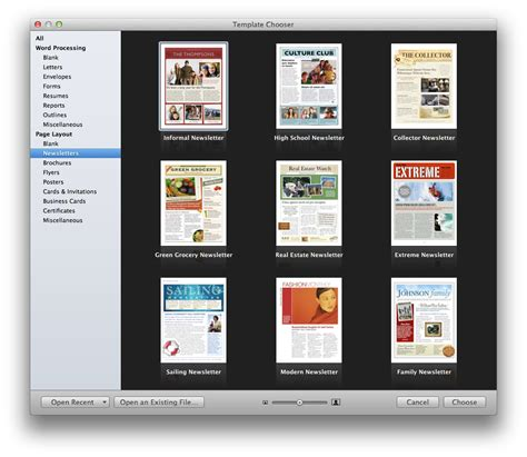 Create A Holiday Newsletter With Pages Or Iphoto Macworld Mac Pages Templates