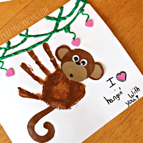 new year monkey handprint 10 easy father s day cards for toddlers to make