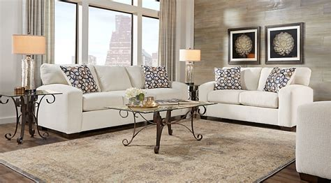 cream colored living room sets