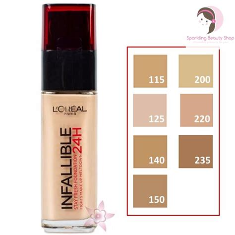 Harga Loreal Foundation Matte l oreal infallible stay fresh 24h liquid foundation