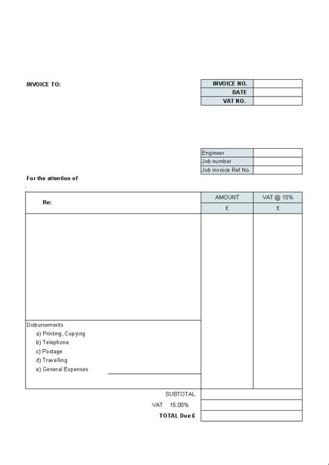 Building Service Billing Template Uniform Invoice Software Billing Template