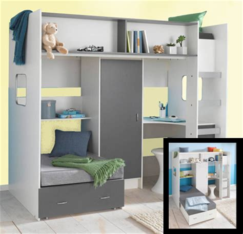 cabin bed with sofa underneath roland childrens high sleeper loft bed