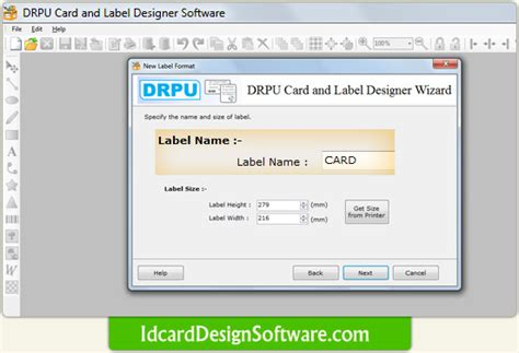 id card design software names card and label design software screenshots how to design