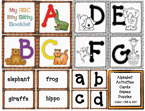 I Have A Borders Gift Card - classroom freebies animal alphabet cards