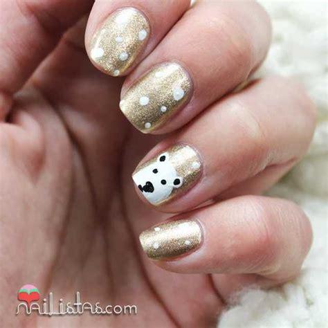imagenes de uñas decoradas con osos u 241 as decoradas de navidad con oso polar nailistas u 241 as