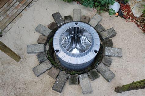 feuerstelle waschmaschinentrommel diy wie aus einer waschmaschinentrommel eine
