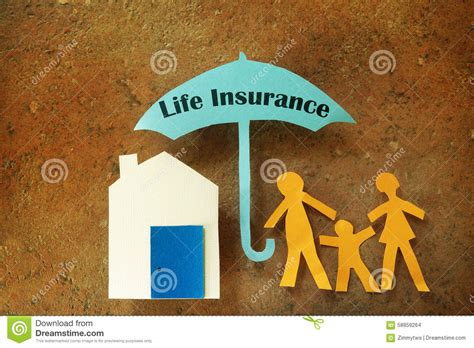 house life insurance life insurance family stock photo image 58859264