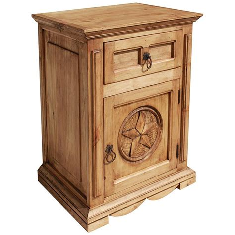 Rustic Pine Nightstand Rustic Pine Collection Mansion Nightstand