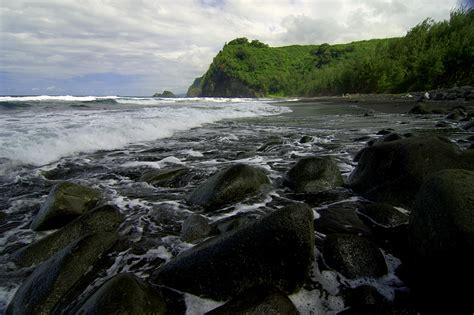 black sand hawaii black sand wallpaper