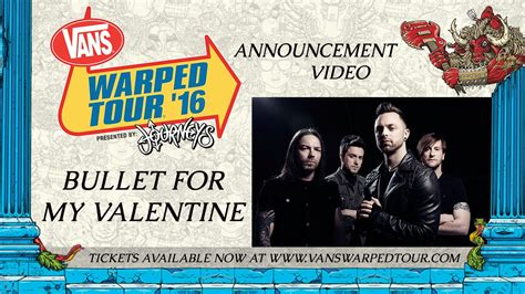 bullet for my tour bullet for my warped tour announcement