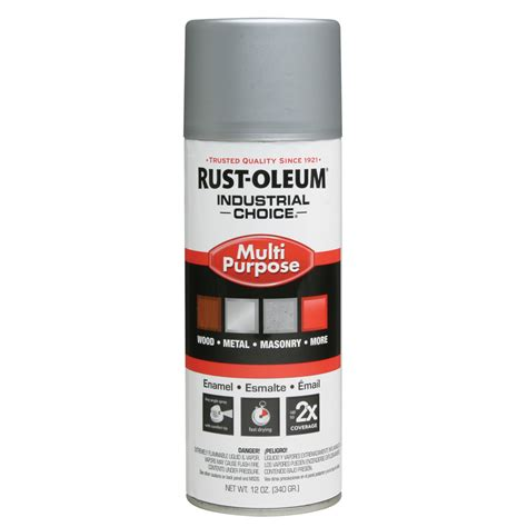shop rust oleum industrial choice dull aluminum enamel spray paint actual net contents 12 oz