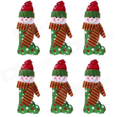 Home Decorating Program Christmas Snowman Sock Doll Decorating Christmas Tree