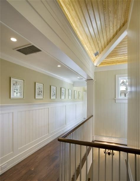 Contemporary Wainscoting Ideas by Exle Of More Modern Looking Beadboard Finishing For The