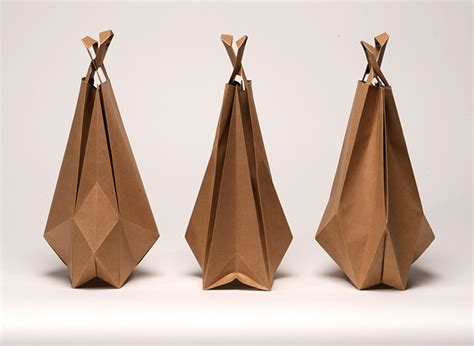 Origami Bags With Paper - impackt magazine packaging design culture fashion