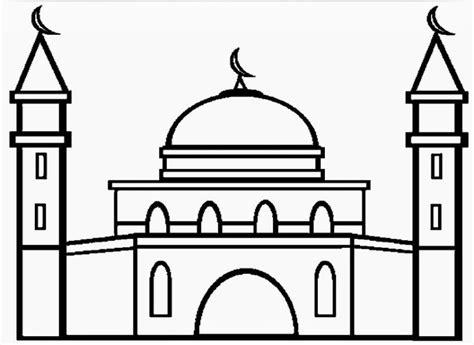 gambar sederhana untuk tk new style for 2016 2017 11 contoh mewarnai gambar masjid sederhana untuk paud tk