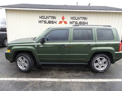 mitsubishi jeep 2008 2008 jeep patriot sport jeep green metallic mountain