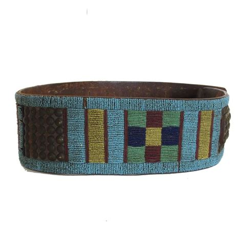 beaded belts for sale mid 19th century american beaded leather belt
