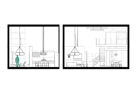 Interior Design Section Drawings by Lofts Sokol Interior Design Toronto On