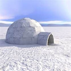 igloo house 3d eskimo igloo house model