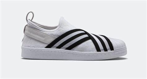 Adidas Slip On X Mountaineering Black Stripe White Premium Original 1 the white mountaineering x adidas superstar slip on drops next week kicksonfire