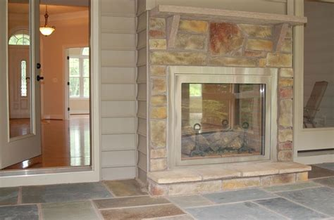 Indoor Outdoor Sided Fireplace by Two Sided Place Indoor Outdoor Fireplaces