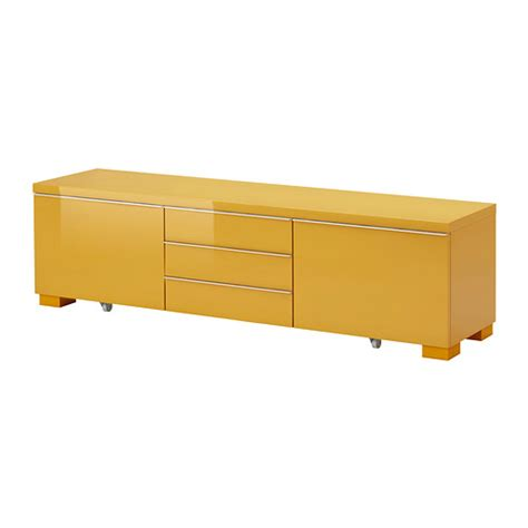 besta burs best 197 burs tv unit high gloss yellow ikea