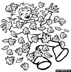 leaf pile coloring page 1000 images about painting and drawing on pinterest