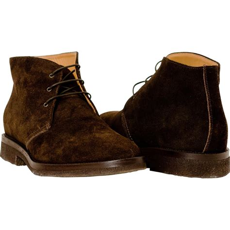 brown suede desert boots paolo shoes