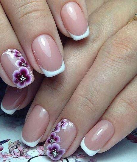 fiori in francese disegni di unghie francese con fiori