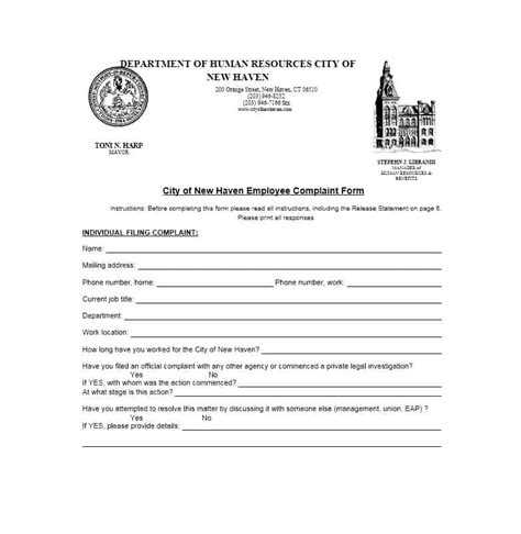hr complaint form template 49 employee complaint form letter templates template