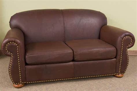 dakota leather upholstery custom leather loveseat by dakota bison furniture