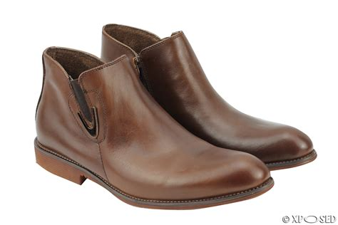 mens vintage chelsea boots new mens real leather vintage chelsea boots classic zip