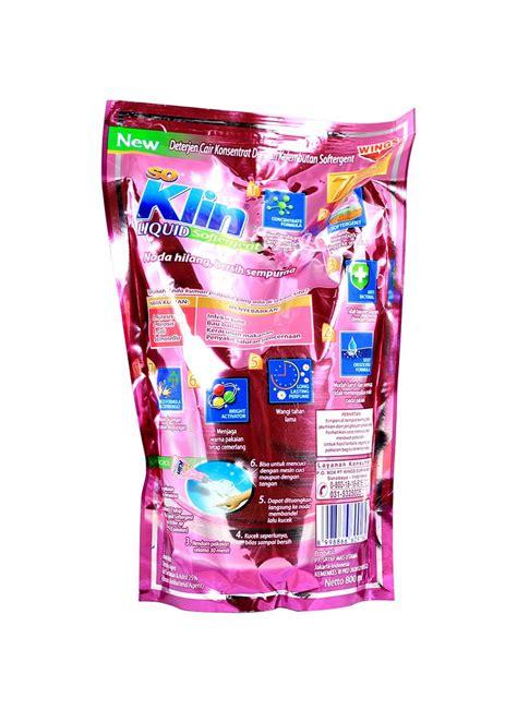 Detergen Cair Mawar 1 Liter so klin detergen cair softergent 800ml klikindomaret