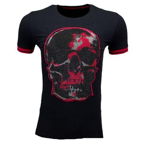 empire t shirt new destroyer zwart rood per lui