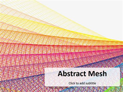 Free Abstract Mesh Powerpoint Template Free Abstract Powerpoint Templates