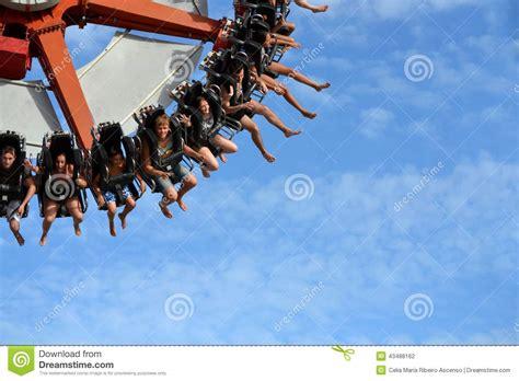 spinning swing ride super pendulum amusement ride park editorial photography