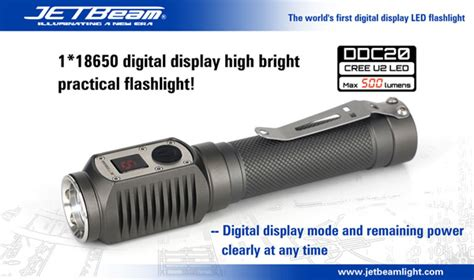 Jetbeam Dda10 Senter Led Cree G2 160 Lumens Black 1 jetbeam launches world s digital display led flashlight outdoorhub