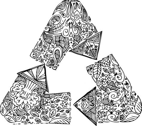 earth mandalas coloring pages 25 best ideas about recycle symbol on pinterest