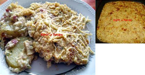karin s recipe cheesy potatoes au gratin