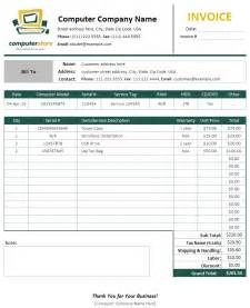 computer receipt template computer sales service invoice template sales invoices