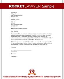cease and desist letter form