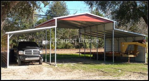 3 Bay Carport Kit Prices Three Bay Steel Barn With Protective Panels Carport Empire