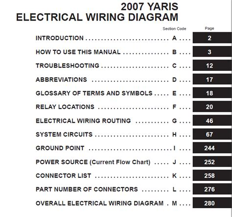 toyota yaris 2007 electrical wiring diagram auto repair