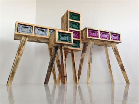 furniture recycling futuristic stiltboxes furniture of recycled materials