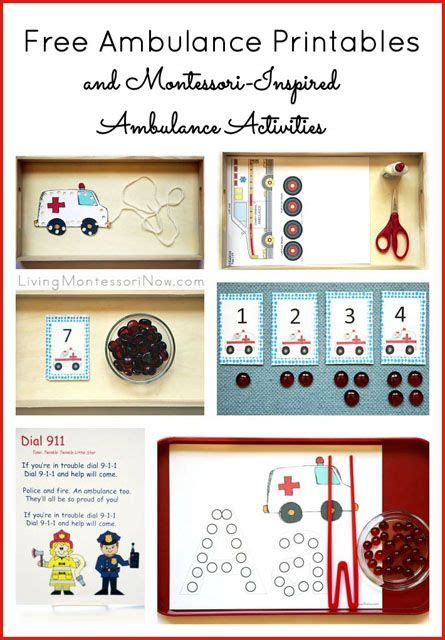 montessori printables for preschool montessori inspired ambulance activities using free