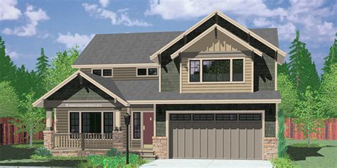 Floor Plans For Single Story Homes by Two Story Craftsman Plan With 4 Bedrooms 40 Ft Wide X 40