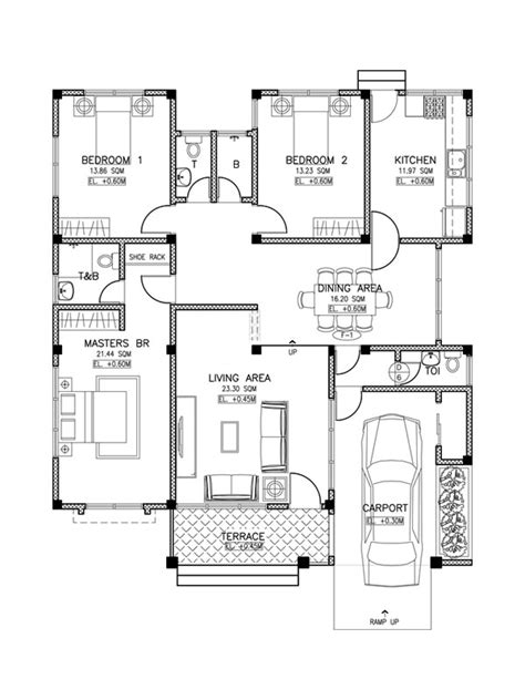 madrigal 3 bedroom home plan pinoy house designs pinoy modern house design phd2015017 pinoy house designs