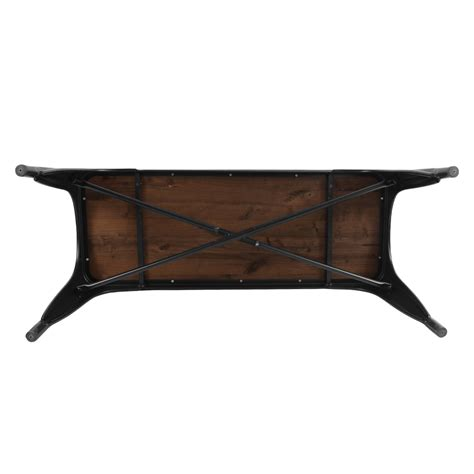 replica bench replica tolix bench seat with timber top in matte black