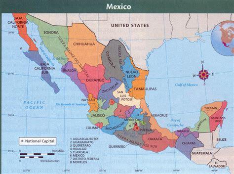 map of major cities in mexico mexico political kirkliv s